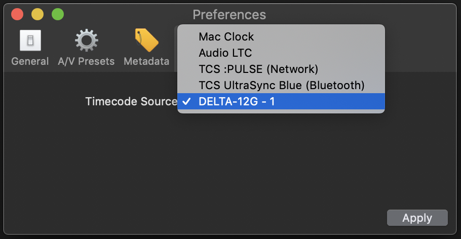 HOW TO: Use timecode sources in MovieRecorder ? – Softron