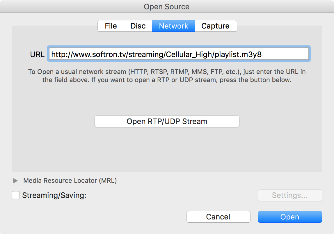 HOW TO: View an HLS Stream in QuickTime or VLC – Softron Support Desk